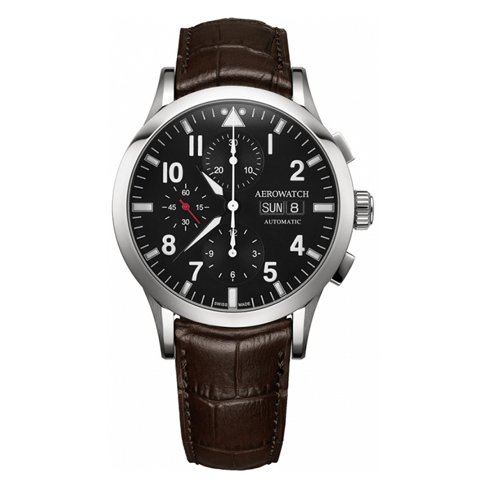 Aerowatch Les Grandes Classiques Pilote – A 61968 AA03 POL