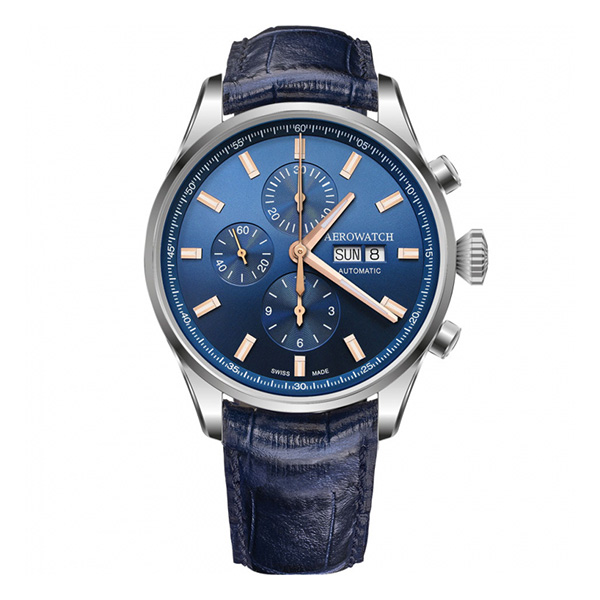 Aerowatch Les Grandes Classiques Collection Chrono Day-Date – A 61989 AA01
