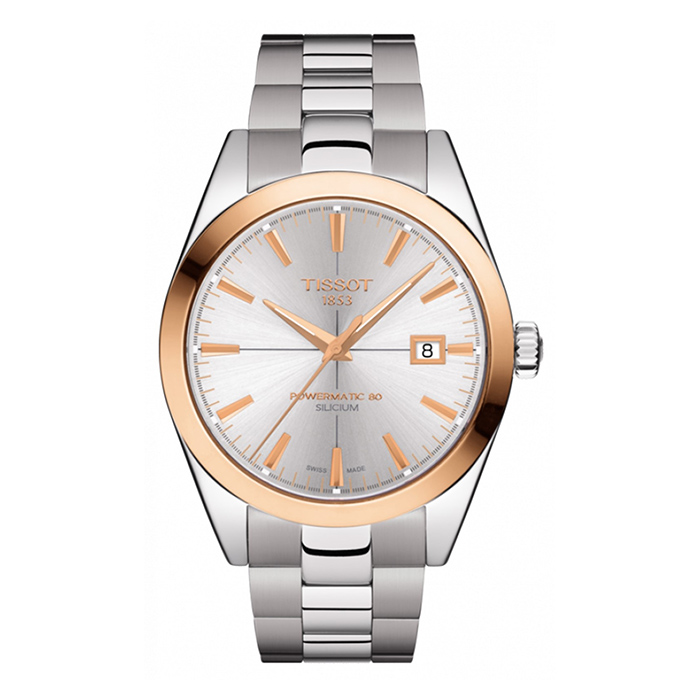 Tissot Gentleman Powermatic 80 Silicium Solid 18K Gold Bezel – T927.407.41.031.00