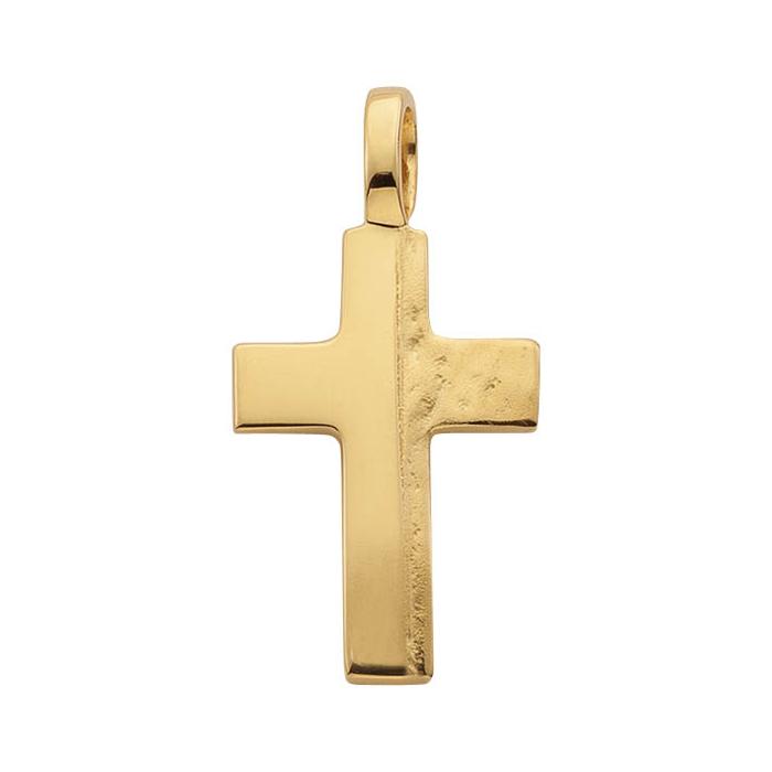 Leo Marty Anhänger Gelbgold Kreuz