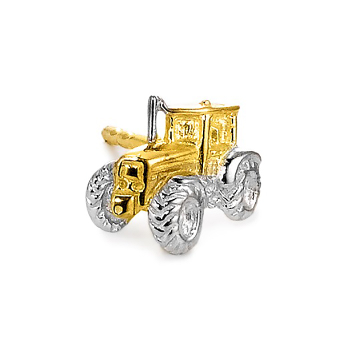 Schmuck Netz Werk AG – Ohrringe Silber vergoldet, Traktor – 506941