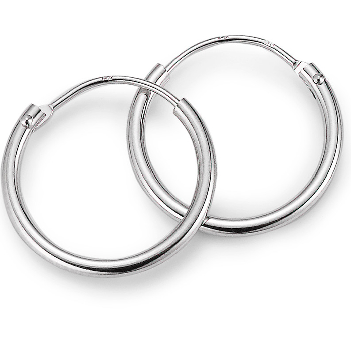 Schmuck Netz Werk AG – Ohrringe Silber Ø ca. 15 mm – 525953