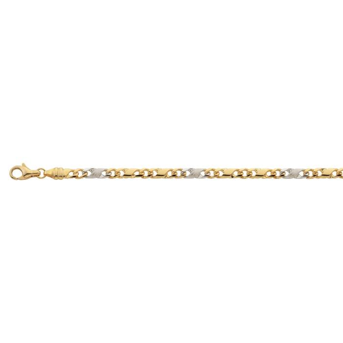 Leo Marty 8er-Kette poliert/sattiniert, 3.8 mm – 3415 – Gold 19 cm