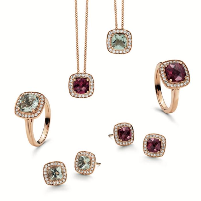 Pfalzer Damenring Diamant 0.22 ct ,Prasiolith 1.99 ct
