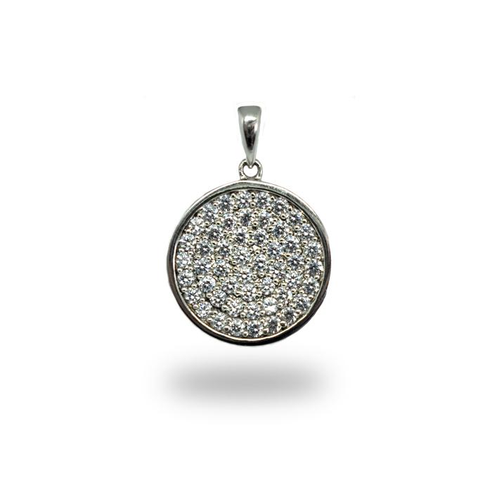 Fantasie Anhänger in Silber verziert mit Zirkonia Steinen