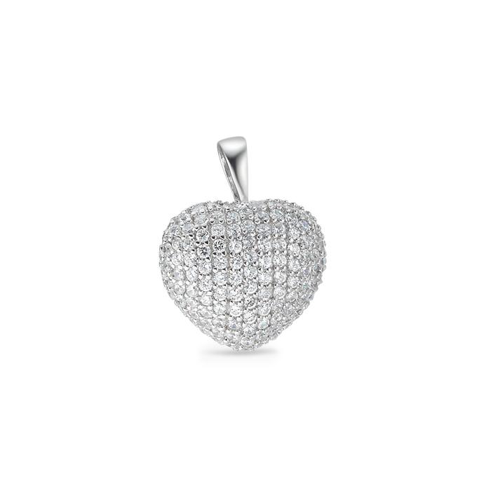 Tissot Hunziker Silber Anhänger in der Form eines Herzens
