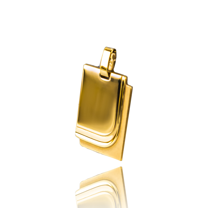 Iten AG Luzern Anhänger Gravur Plakette Gelbgold
