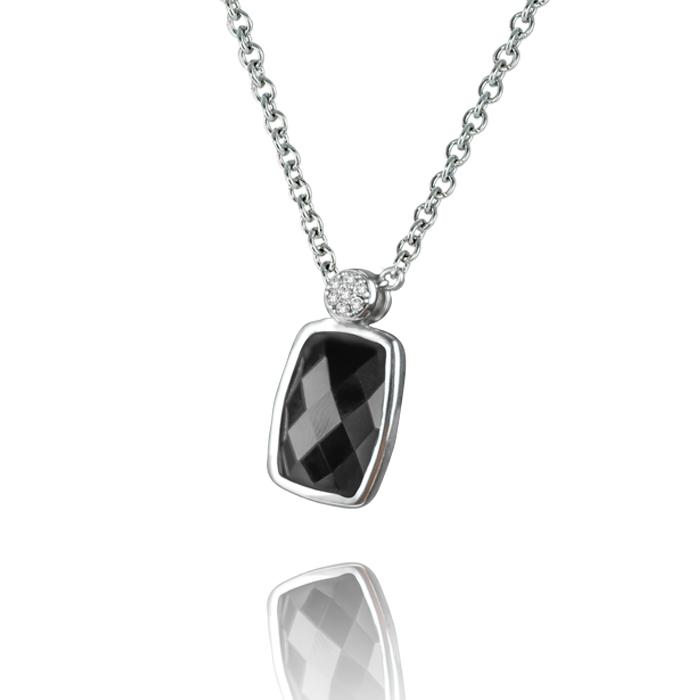 H. Pfalzer & Co. AG Silberkette rhodiniert mit Anhänger