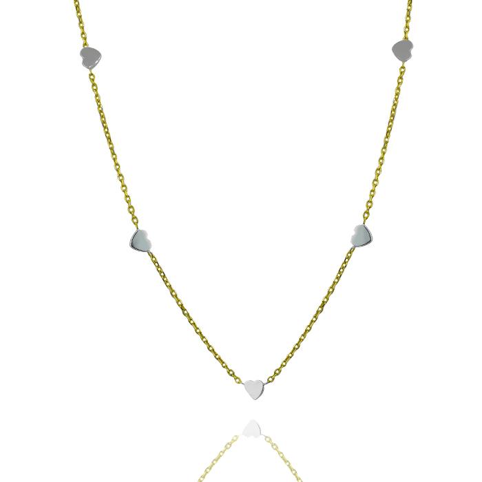 Leo Marty Halskette mit Herzen – Gold 750