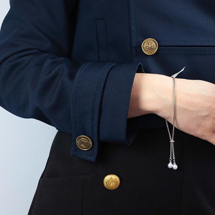 Leo Marty Silber Armband mit zwei tropfenförmigen Süsswasserperlen