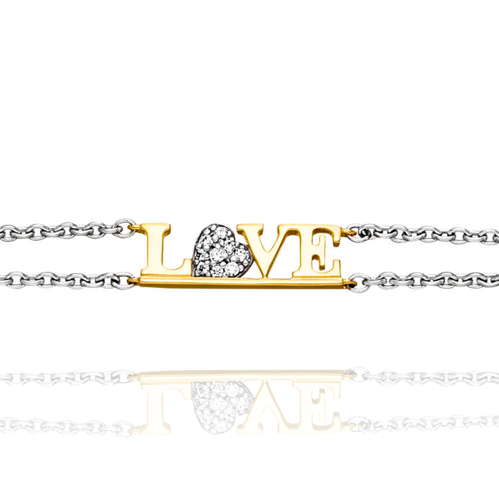 VIVENTY Jewels – Armband 'LOVE' mit 9 Zirkonia