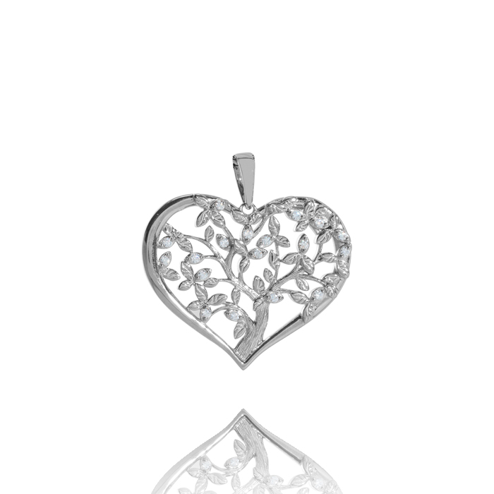 Amor Distribution Sàrl – Anhänger Lebensbaum Herzförmig – ALB1016