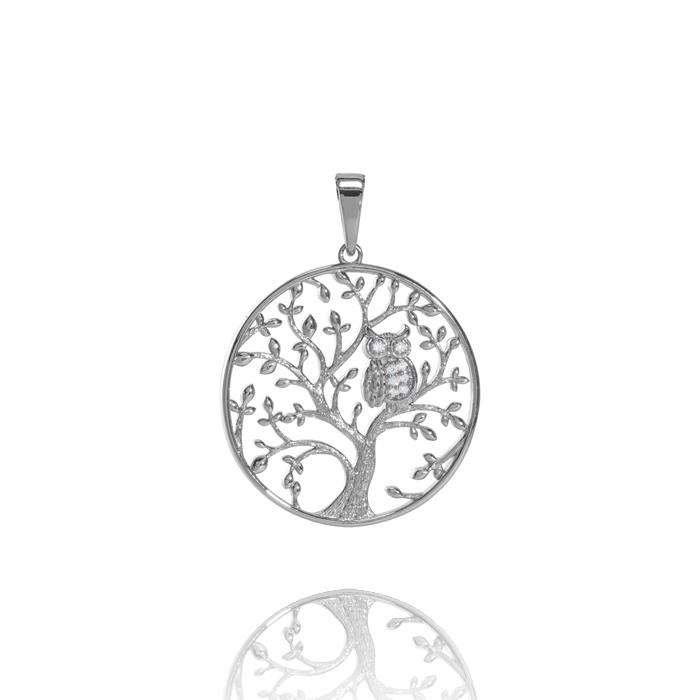 Amor Distribution Sàrl – Anhänger Lebensbaum mit Eule – ALB1017