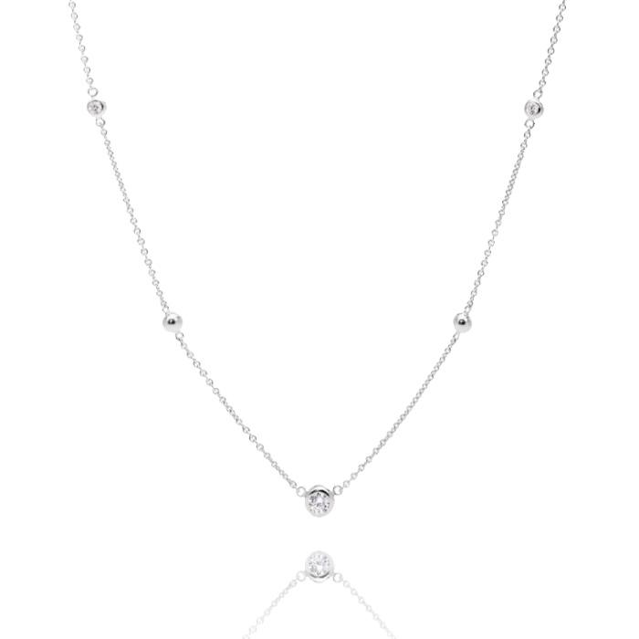 Fossil Sterling Silver Halskette – JFS00453040