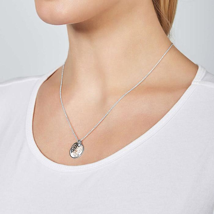 Fossil Sterling Silver Halskette – JFS00509040 1