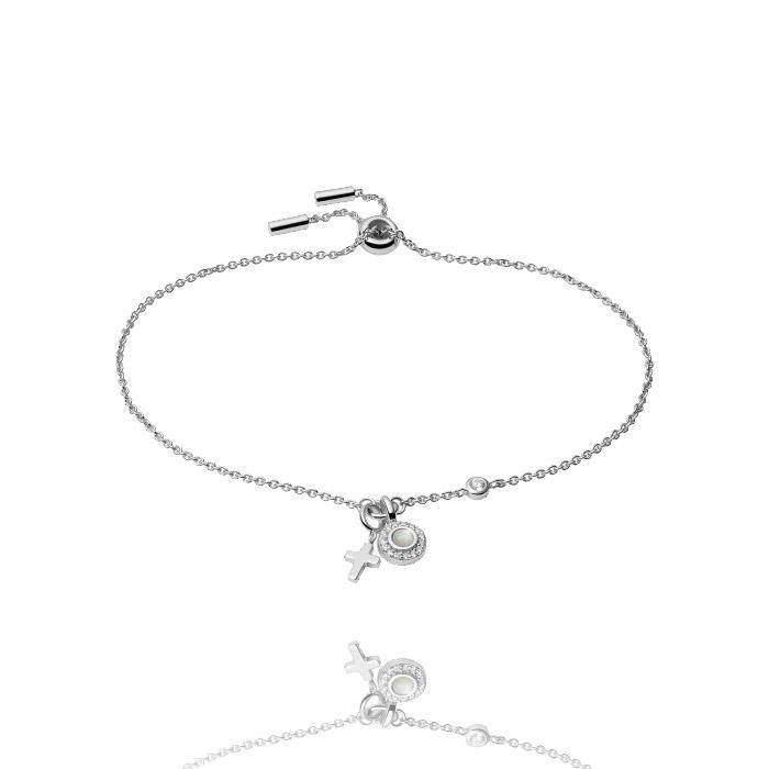 Fossil Sterling Silver Armband – JFS00538040