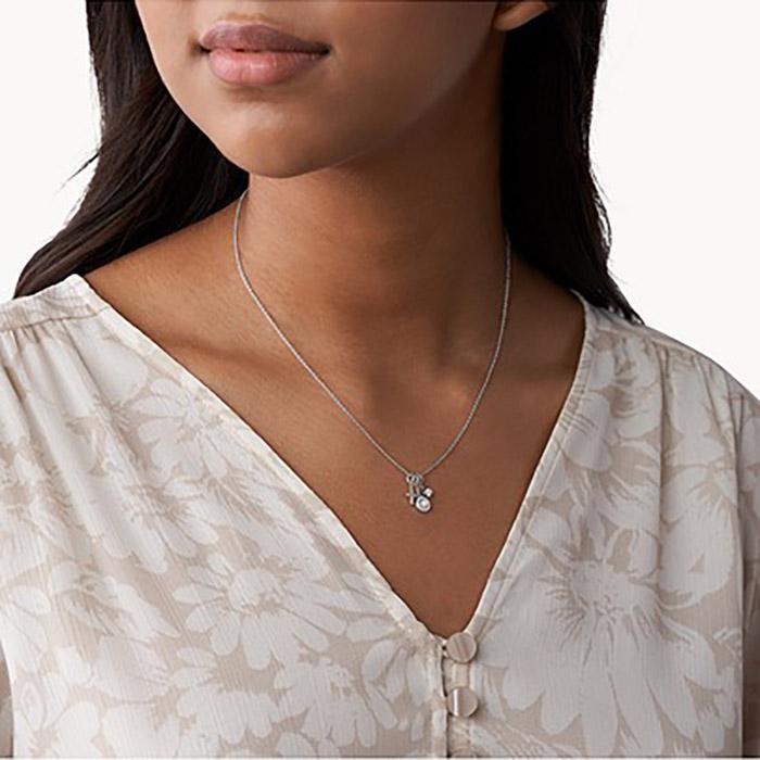 Fossil Sterling Silver Halskette – JFS00539040